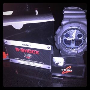 Brand new GShock men's matte black